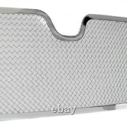 03-04 Lincoln Navigator Front Upper+lower Chrome Stainless Mesh Grille Combo Set