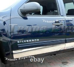 07-13 Silverado Crew Cab 5.8' Short Bed Rocker Panel Trim 6 Stainless Steel