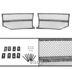 07-14 Lincoln Navigator Front Upper+lower Chrome Stainless Mesh Grille Combo Set