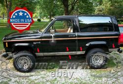 1984-1993 Ford Bronco II Mid-Size SUV Stainless Rocker Panel Trim Cover 5 10Pc