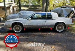 1986-1991 Cadillac Eldorado Chrome Rocker Panel Trim Body Side FL 8.5 10Pc