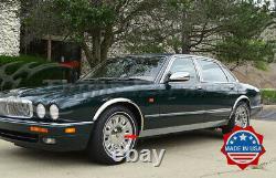 1986-1997 Jaguar XJ6 Chrome Rocker Panel Trim Extreme Lower Overlay 4.5 2Pc