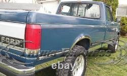 1987-1996 Ford Bronco Full-Size SUV Chrome Rocker Panel Trim Stainless Steel 3
