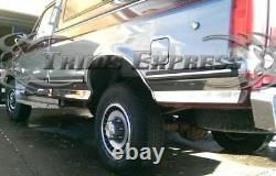 1987-1996 Ford Bronco Full-Size SUV Rocker Panel Trim Stainless Steel 6