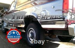 1987-1996 Ford F-150/250 Pickup Regular Cab Long Bed Chrome Rocker Panel Trim-6