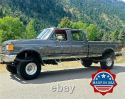 1987-1996 Ford F-250/F-350 Pickup Crew Cab Long Bed Chrome Rocker Panel Trim-3