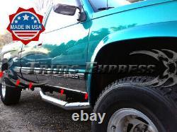 1988-1998 GM C/K Pickup Extended Cab Short Bed Rocker Panel Trim 6.25 WithF 10Pc
