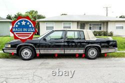 1989-1990 Cadillac DeVille 4Dr Sedan Chrome Rocker Panel Trim Body Side FL 7
