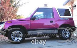 1989-1998 Chevy/Geo Tracker 2Dr Rocker Panel Trim Body Side Molding 6Pc 6