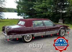 1991-1992 Cadillac Fleetwood Sedan Rocker Panel Trim Stainless FL 14Pc 5 3/4