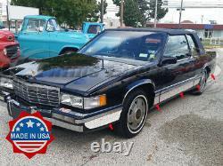 1991-1993 Cadillac DeVille Coupe Rocker Panel Trim Side Molding FL 10Pc 5 3/4