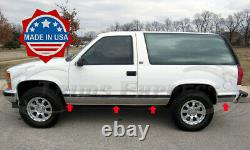 1995-1999 Chevy Tahoe 2Dr No Flare Rocker Panel Trim Stainless FL 8Pc 6 1/4