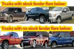 1995-1999 Chevy Tahoe 2Dr withFlare Rocker Panel Trim FL Stainless 6 1/4 8Pc