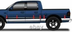 1997-2003 Ford F-150 Crew Cab Short Bed with Flares Chrome Rocker Panel Trim 12Pc