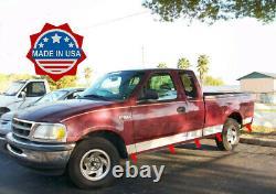 1997-2003 Ford F-150 Super Cab Short Bed No Flare Rocker Panel Trim 6 10Pc