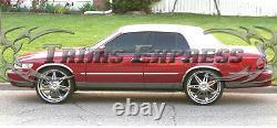 1998-2011 Mercury Grand Marquis LS Rocker Panel Stainless Trim 5 12Pc FL