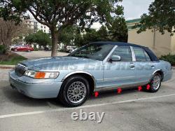 1998-2011 Mercury Grand Marquis LS Sedan Rocker Panel Molding Trim 5 8Pc BW