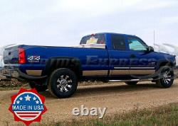 1999-2006 Chevy Silverado 4Dr Extended Cab Long Bed Rocker Panel Trim 6 withFlare
