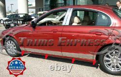 1999-2007 Jaguar S-Type Rocker Panel Trim Body Side Molding Door Cover 5 8Pc