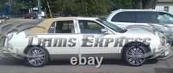 2000-2005 Cadillac DeVille Rocker Panel Trim Side Molding FL Stainless 12Pc 6