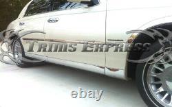 2000-2009 Lincoln Town Car L Model Lower Rocker Panel Body Side Molding Trim 8Pc