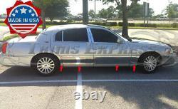 2000-2011 Lincoln Town Car L Longer model Rocker Panel Molding Trim 9 8Pc BW