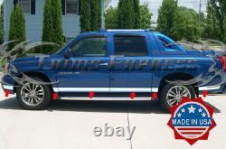 2002-2006 Cadillac Escalade EXT Pickup Rocker Panel Trim Side Molding 12Pc 4