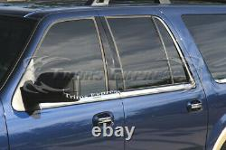 2003-2006 Ford Expedition withKeypad Cutout 6Pc Chrome Window Sill Trim Accent