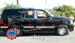 2003-2006 Lincoln Navigator 8Pc Chrome Rocker Panel Trim Molding Stainless Steel