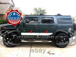 2003-2009 Hummer H2 Chrome Stainless Steel Rocker Panel Trim 6 4Pcs Body Side