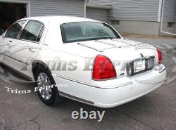 2003-2011 Lincoln Town Car Lower Rocker Panel Body Side Trim Molding Accent-12Pc