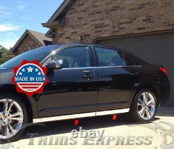 2006-2012 Lincoln MKZ Extreme Lower Rocker Panel Trim Stainless Steel 4Pc 3