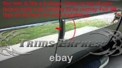 2007-2008.5 Chevy Suburban/Avalanche 4Pc Chrome Body Side Molding Trim Overlay