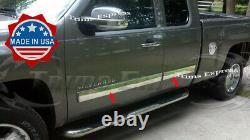 2007-2008 Chevy Silverado Extended Cab Body Side Molding Trim Overlay 4.25