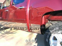 2007-2013 Chevy Silverado Crew Cab 5.8' Bed Rocker Panel Trim 9 Stainless Steel