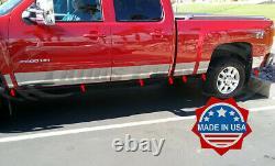 2007-2013 Chevy Silverado Crew Cab 6.8' Short Bed Rocker Panel Trim-14Pc 9