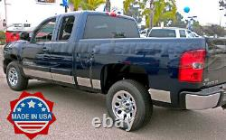 2007-2013 Chevy Silverado Extended Cab 6.5' Short Bed Rocker Panel Trim 14Pc 6