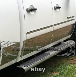 2007-2013 GMC Sierra Crew Cab 5.8' Short Bed Rocker Panel Trim Body Side 9 12Pc