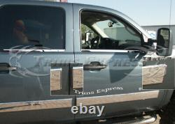 2007-2013 GMC Sierra Extended Cab Body Side Molding Overlay Trim Cover 4