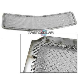 2007-2014 Avalanche Suburban Tahoe Main Upper Stainless Steel Mesh Grille Chrome