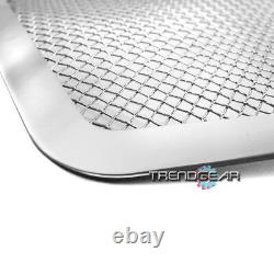 2007-2014 Avalanche Tahoe Main Upper+tow Hook Stainless Steel Mesh Grille Chrome