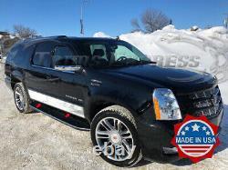 2007-2014 Cadillac Escalade ESV Longer SUV/EXT Pickup Rocker Panel Trim 4Pc 6