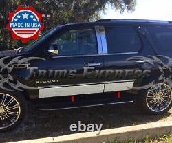 2007-2014 Cadillac Escalade SUV Shorter Rocker Panel Trim Body Side Molding 4Pc