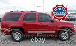 2007-2014 Chevy Tahoe 4Pc Rocker Panel Trim Body Side Molding Stainless 4Pc 5