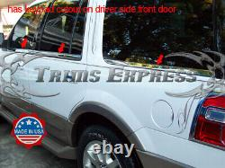 2007-2017 Ford Expedition withKeypad Cutout 6Pc Chrome Window Sill Trim Accent
