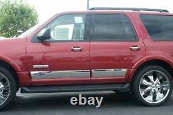 2008-2012 Ford Escape 4Pc Chrome Rocker Panel Trim Body Side Molding 6