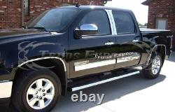 2009-2013 Chevy Silverado Crew Cab Chrome Body Side Molding Overlay 4 1/4Trim