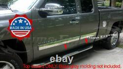 2009-2013 Chevy Silverado Extended Cab Body Side Molding Overlay 4.25 Trim