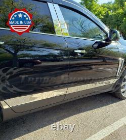 2010-2016 Cadillac SRX 8Pc Body Side Molding Rocker Panel Trim Stainless 3 Flat