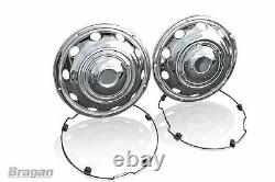 22.5 Swedish Style Stainless Steel Chrome Front Wheel Trims Covers Truck Lorry